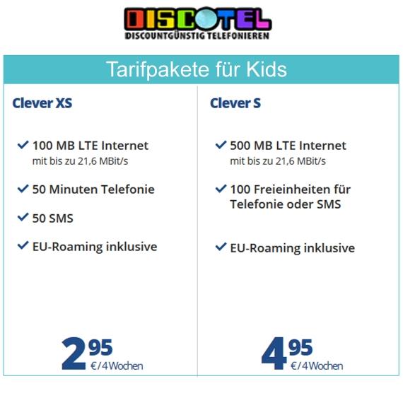 discoTEL Tarifoptionen: Kinder und Jugendliche