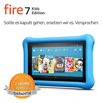Fire 7 Kids Edition-Tablet, 17,7 cm (7 Zoll) Display, 16 GB, blaue kindgerechte Hülle - 2