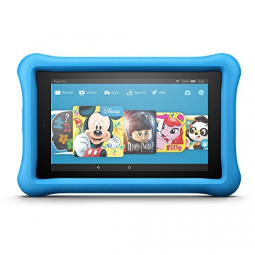 Fire 7 Kids Edition-Tablet, 17,7 cm (7 Zoll) Display, 16 GB, blaue kindgerechte Hülle - 1