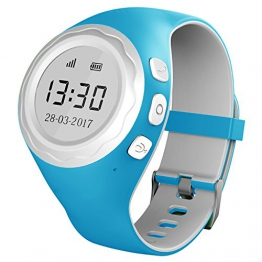Pingonaut Kidswatch - Kinder GPS Telefon-Uhr, SOS Smartwatch mit Ortung, Tracker & Phone - Tracking App, Deutsche Software, Speedblau - 1