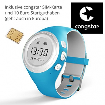 Pingonaut Kidswatch - Kinder GPS Telefon-Uhr, SOS Smartwatch mit Ortung, Tracker & Phone - Tracking App, Deutsche Software, Speedblau - 4