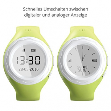 Pingonaut Kidswatch - Kinder GPS Telefon-Uhr, SOS Smartwatch mit Ortung, Tracker & Phone - Tracking App, Deutsche Software, Speedblau - 5