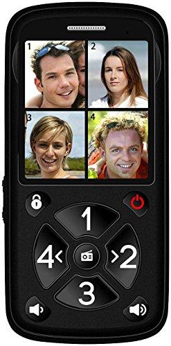 simvalley communications Seniorenhandy: 5-Tasten-Senioren- & Kinder-Handy mit Garantruf Premium, LED und Radio (Kinderhandy) - 3
