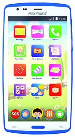 Smartphone für Kinder Lisciani Giochi 55661Mio Phone Evolution HD, 12,7 cm (5 Zoll), Farbe: Blau - 1