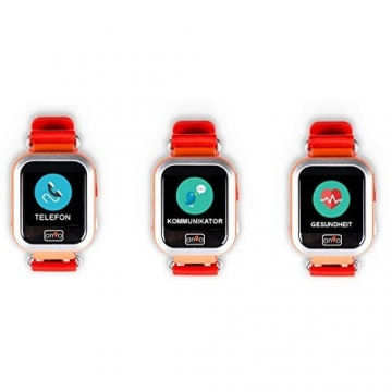 Anio3 touch ROT - Kinder GPS Smartwatch / Schutz für Ihr Kind / SOS Notruf + Telefonfunktion / KEINE MONITORFUNKTION / GPS Uhr / WIFI + LBS, CE & RoHS & EN71 DEUTSCHER SERVER - DEUTSCHE APP (Rot) - 2