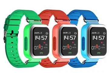 Anio3 touch ROT - Kinder GPS Smartwatch / Schutz für Ihr Kind / SOS Notruf + Telefonfunktion / KEINE MONITORFUNKTION / GPS Uhr / WIFI + LBS, CE & RoHS & EN71 DEUTSCHER SERVER - DEUTSCHE APP (Rot) - 3