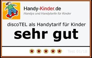 Testsiegel discoTEL Handytarif für Kinder