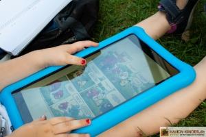 Amazon Kindertablet Testbericht - draußen