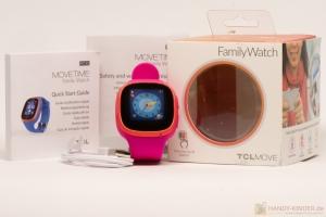 TCL Movetime Kindersmartwatch in blau und pink - Lieferumfang