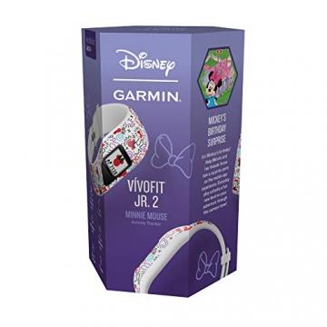 Garmin vívofit jr. 2, wasserdichte Action Watch für Kinder – Disney Minnie Maus mit Abenteuer-App, weiß - 13