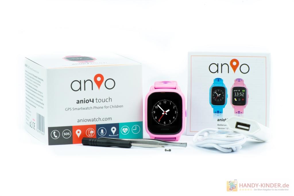Anio 4 Touch Kindersmartwatch: Der Lieferumfang