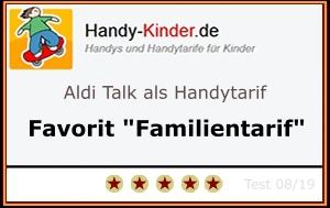 Aldi Talk Testsieger für Familien