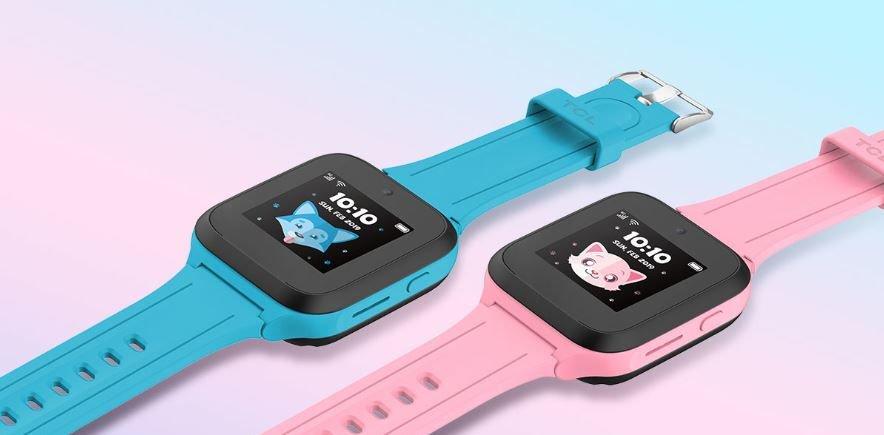TCL Movetime MT40 mit LTE und Kamera - blau und pink