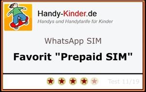 WhatsApp SIM - Testsiegel