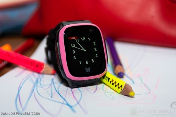 Kindersmartwatch Xplora X5 mit Uhrzeitanzeige