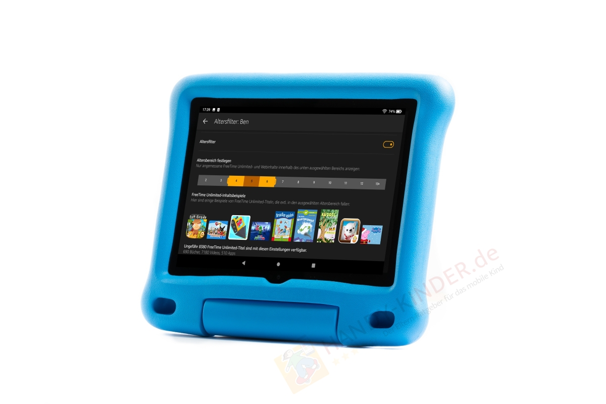 Altersfilter am Amazon Fire HD Kidsedition