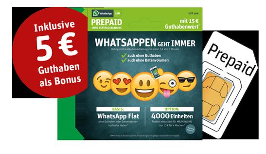 WhatsApp SIM Startpaket Eltern