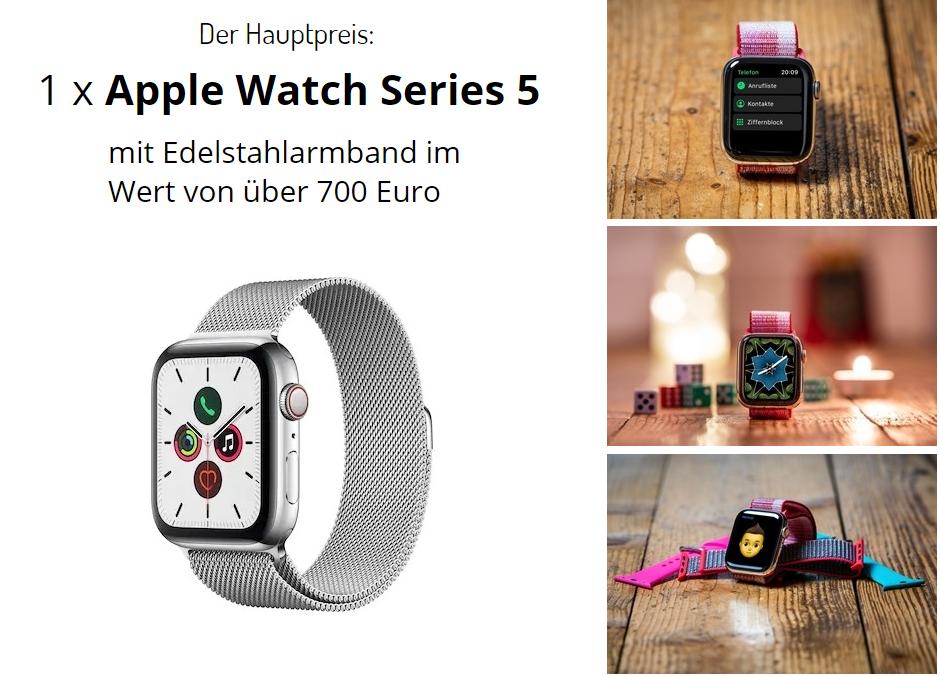 Apple Watch Gewinnspiel: Verlosung Hauptgewinn