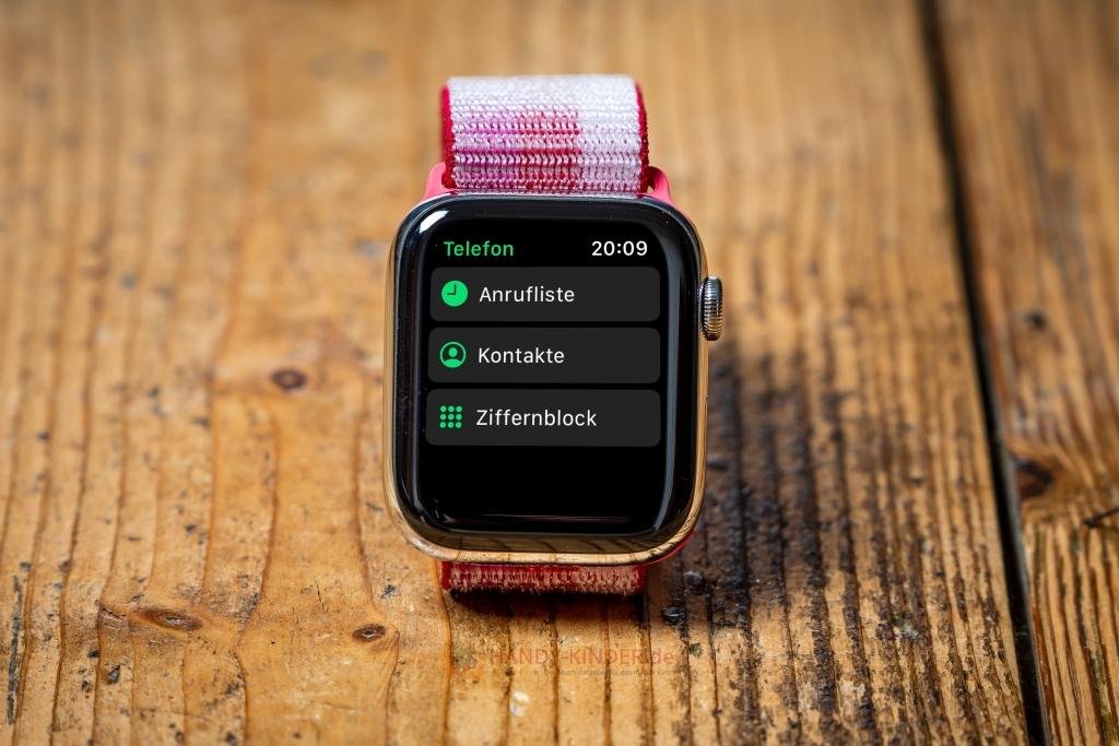 Apple Watch Series 5: Anrufliste und Kontakte