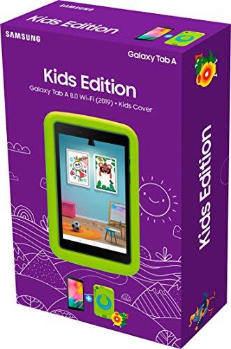 Samsung Galaxy Tab A 8.0 Wi-Fi (2019) + Kids Cover Grün (20,31 cm (8 Zoll), 32 GB interner Speicher, 2 GB RAM, Android 9 mit Kids Home-Bereich) Schwarz - 3