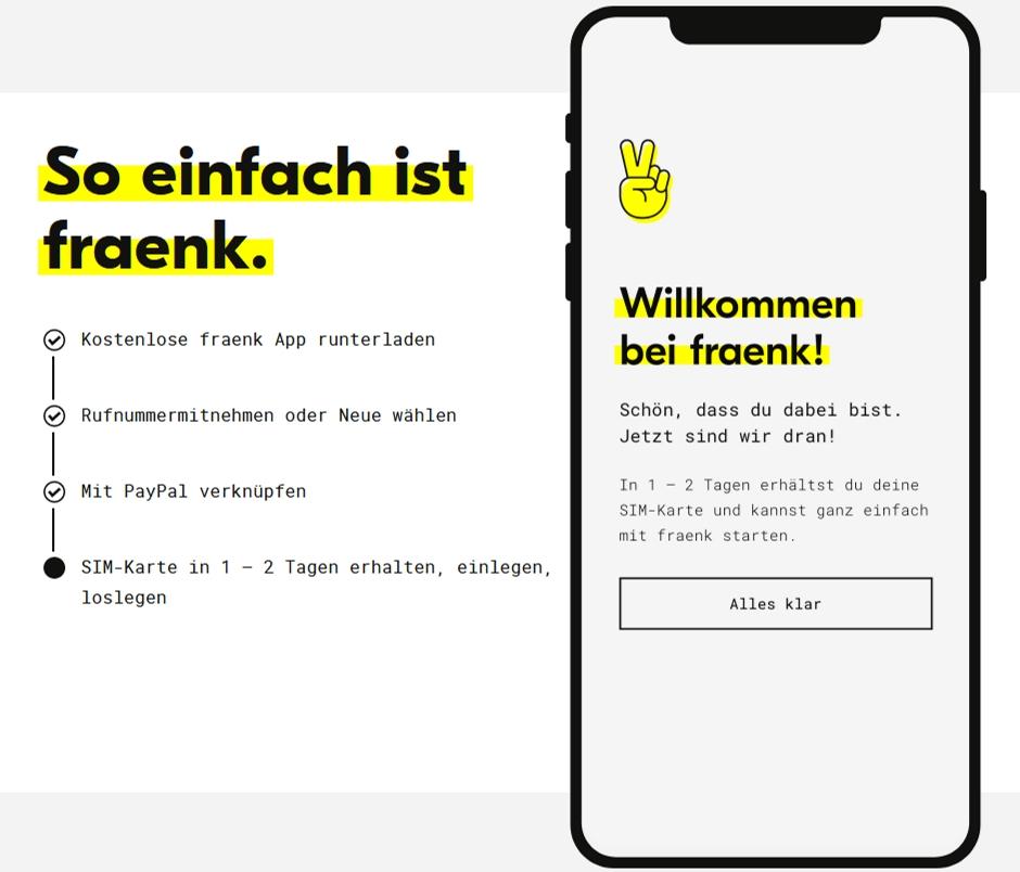 FRAENK - Handytarif für Kinder mit Mobilfunk App