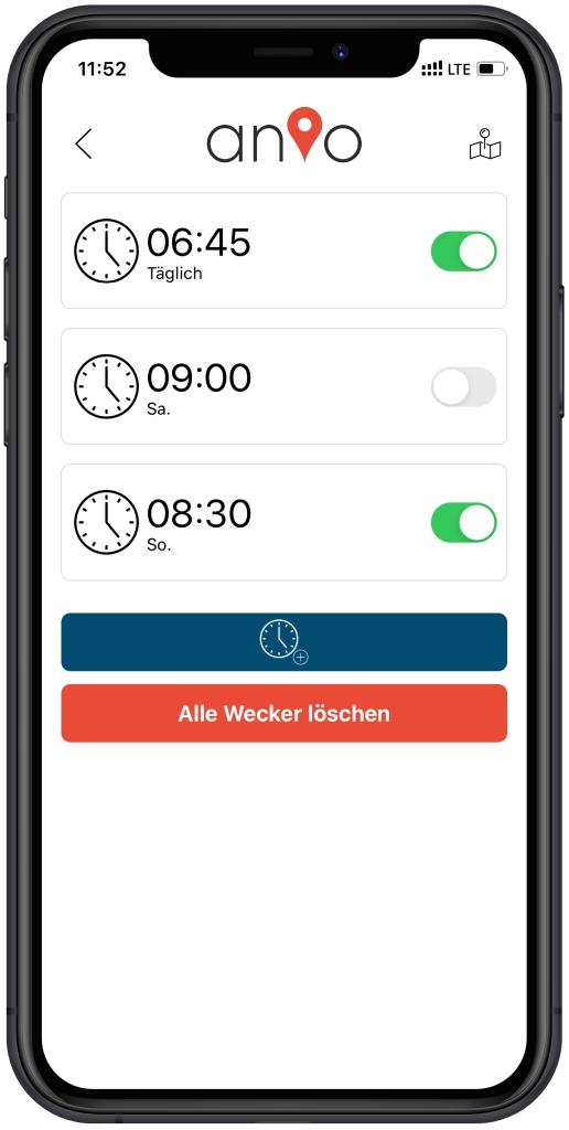 Anio 5 App: Schulzeiten und Ruhemodus