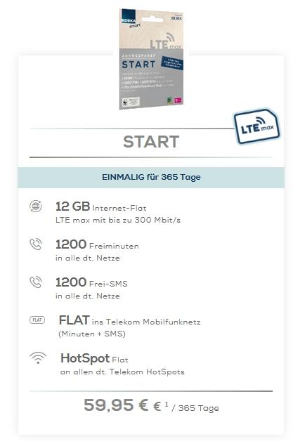 Edeka SMART Start Jahrespaket