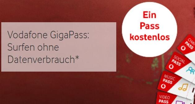 Vodafone GigaPass kostenlos