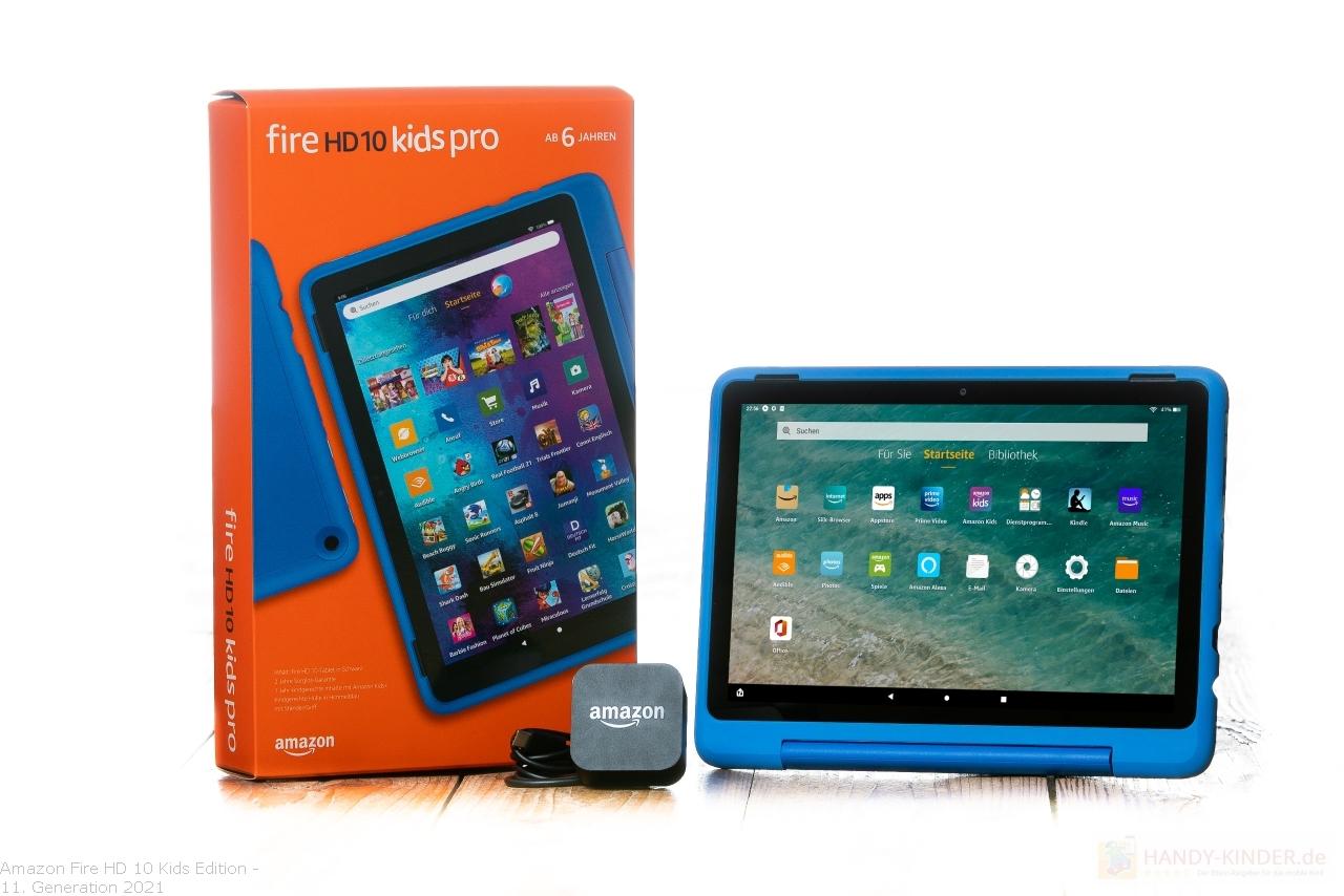 Amazon Fire HD 10 Kids Edition im Test: Lieferumfang mit USB-Stecker zum Akku aufladen