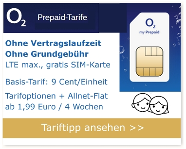 Tarifempfehlung Handytarif Kinder - O2 Freikarte