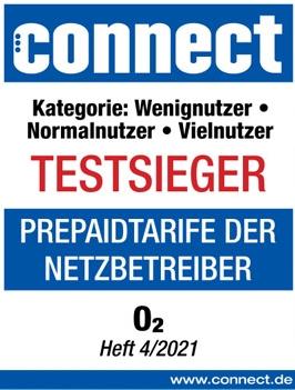O2 Prepaid Tarife - Testsieger CONNECT